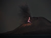 Lightning in a night eruption of Anak Krakatau