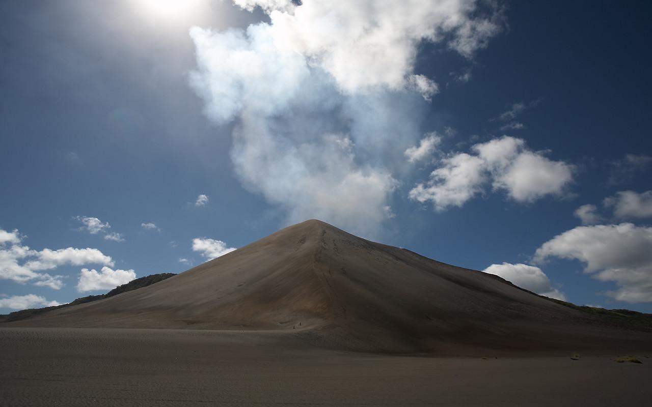 Yasur from the ash plain