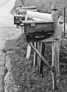 Mailboxes B&W