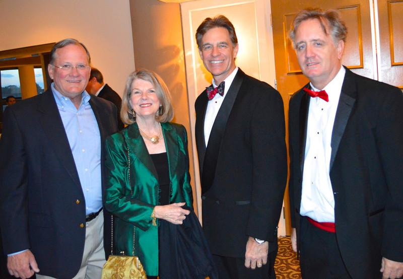 Charlie Hood '67, Glenda Hood, Board Pres. Kent Mitchell, and Year50 Chair Ed Murphy