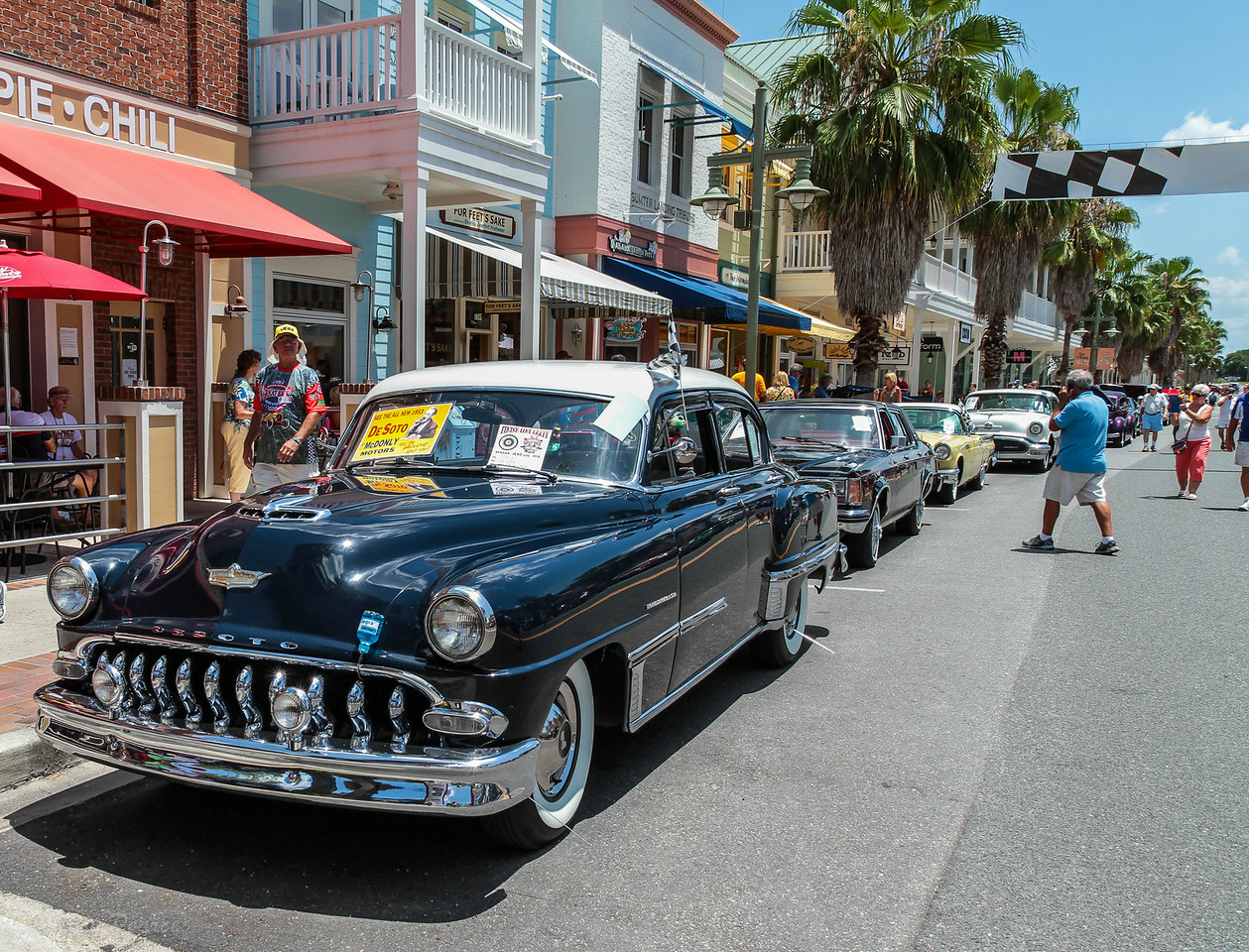 "Alan Stone's classic 1953 Desoto.  Dave Allen, President of the Villages RC Car Club walking by checking it out.  You can check out the Villages Remote Control Car Club at  <a href=""http://www.rc-cars-thevillages.com"">http://www.rc-cars-thevillages.com</a>"