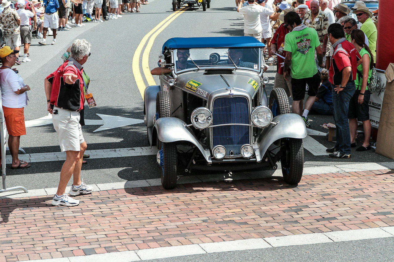 The team of Vernon and Greg Cunningham finished thirteenth in their 1032 Ford Roadster Pickup.