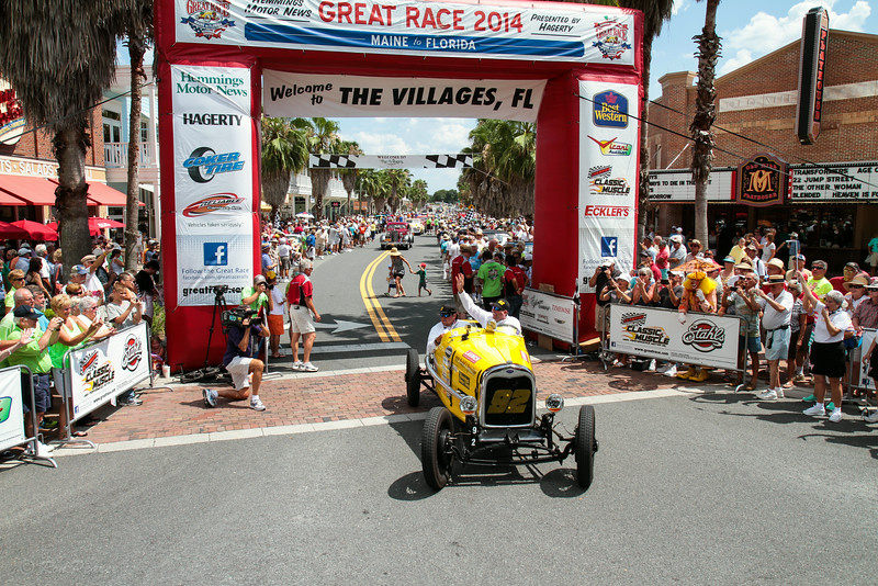 The team of Chad Nelson and Brandon Schindler finished sixth in their 1928 Ford A Speedster.
