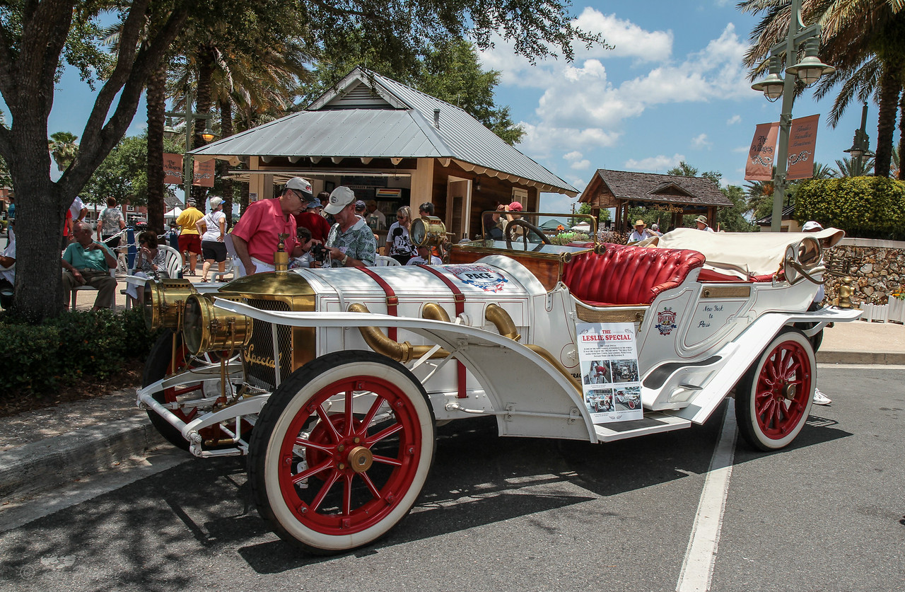 """The Leslie Special"", is one of the most famous automobiles in history.  It was the star of the 1965 hit movie, ""The Great Race"" and planted the seed for this event."
