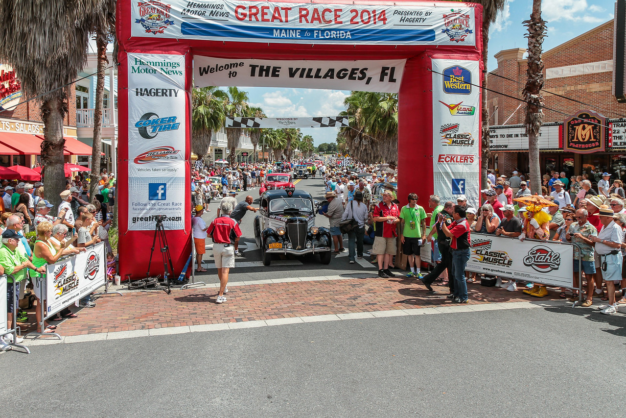 """Car 54 Where Are You?""  Yes, that was their car number for the ""Great Race"".  The team of Louise and Jim Feeney came in 7th, in their 1936 Ford Fordor Police car."