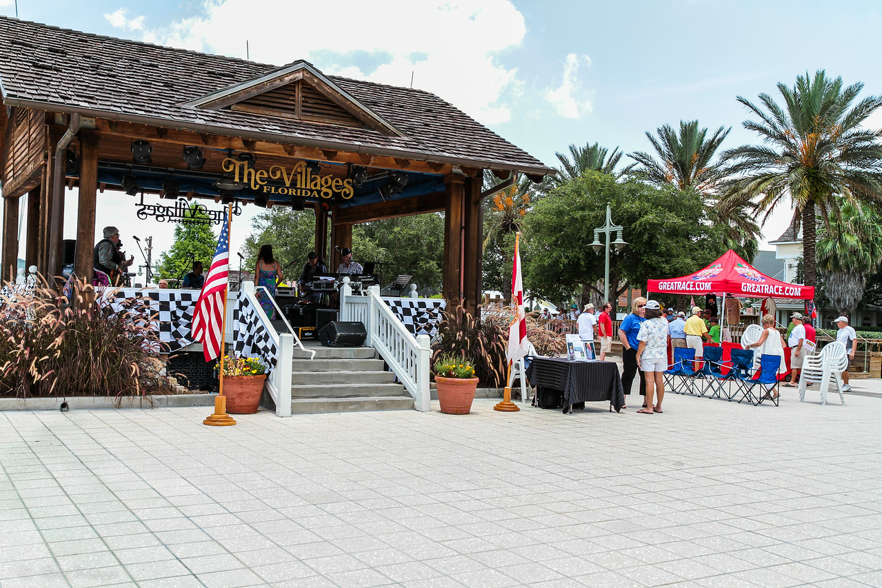 The center point of all activities on the square at Sumter Landing, The Villages, Florida.