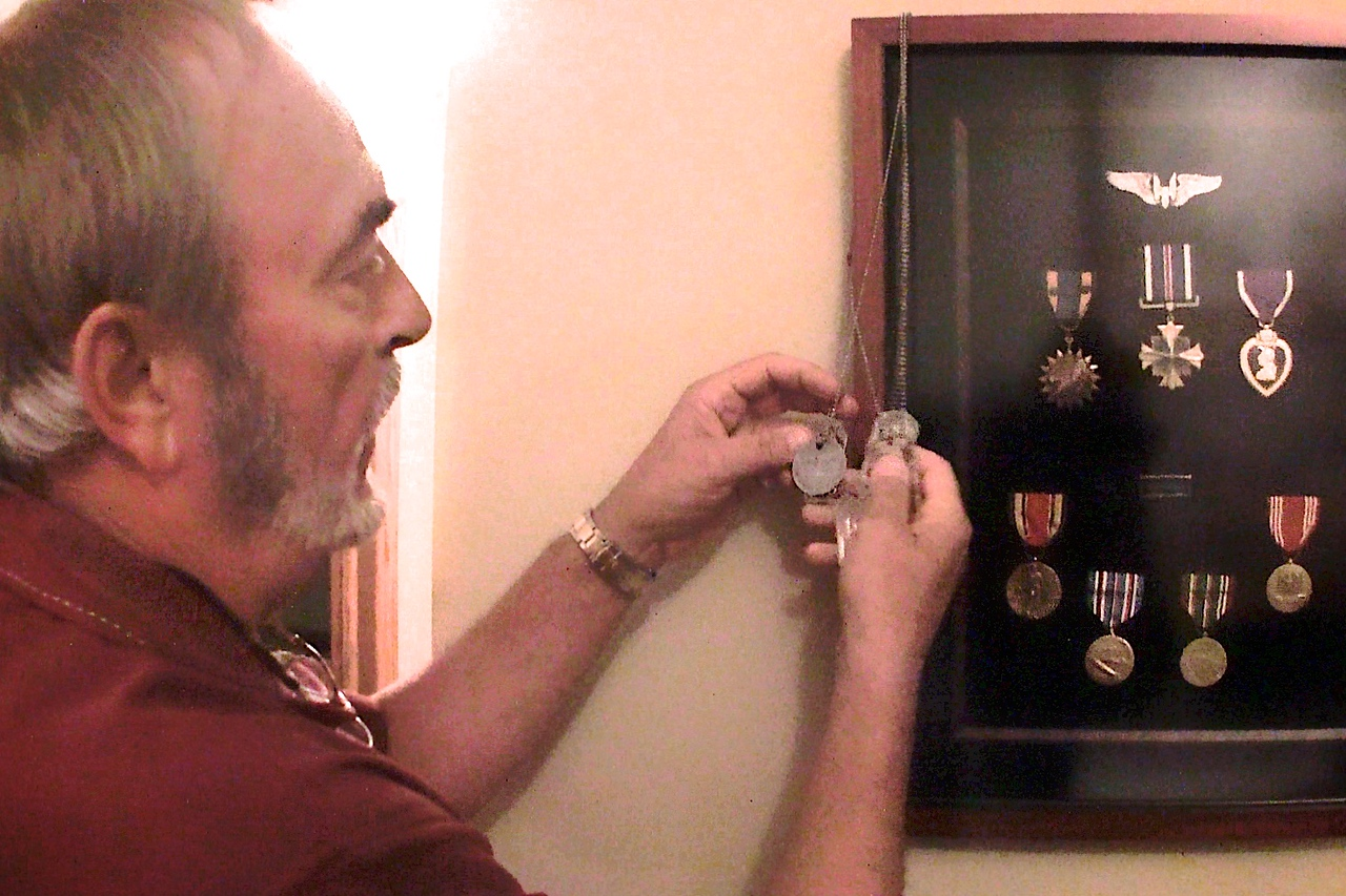 """""""dog tags"""" (for three generations of Foster Chapman's)"""