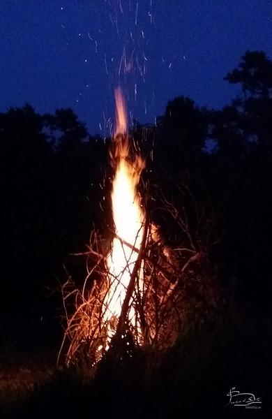 Bonfire using tepee shape