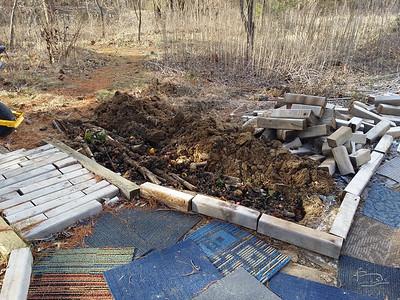 paper, logs, fresh compost