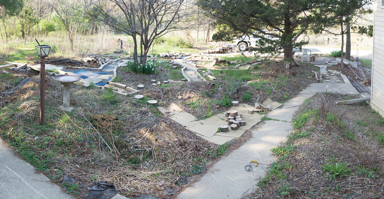 early spring front yard
