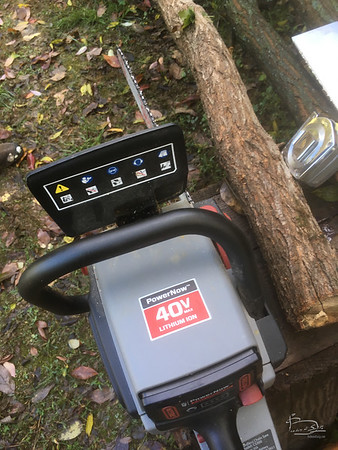 electric chain saw needing maintenance