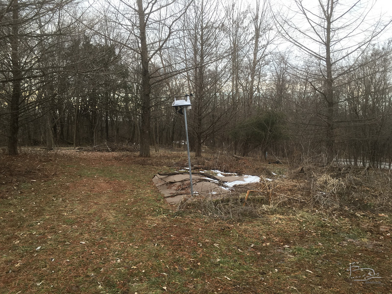 post on weather station tilting due to mud.