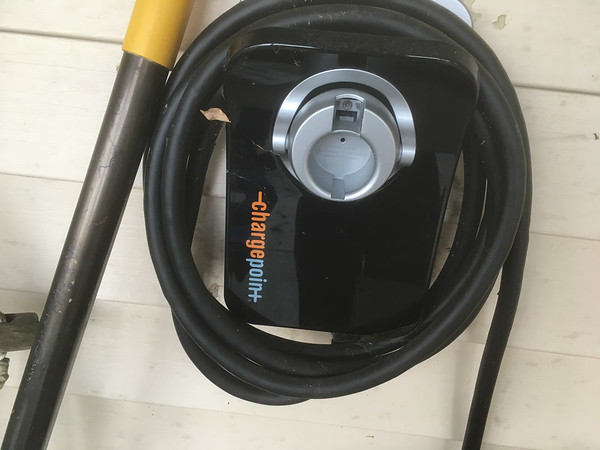 standard plug for plug in hybrid; connected to 3 wire circuit, but not turned on.