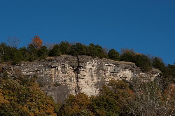 Missouri River Bluffs, not far from Wilton, Missouri.