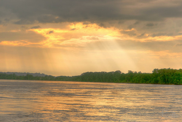 Missouri River sun and rain