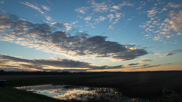 Sunset near Wilton, Missouri