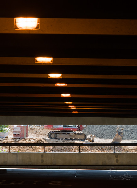 Tread on the landscape, parking garage at Huntington Metro Station, Alexandria, Virginia