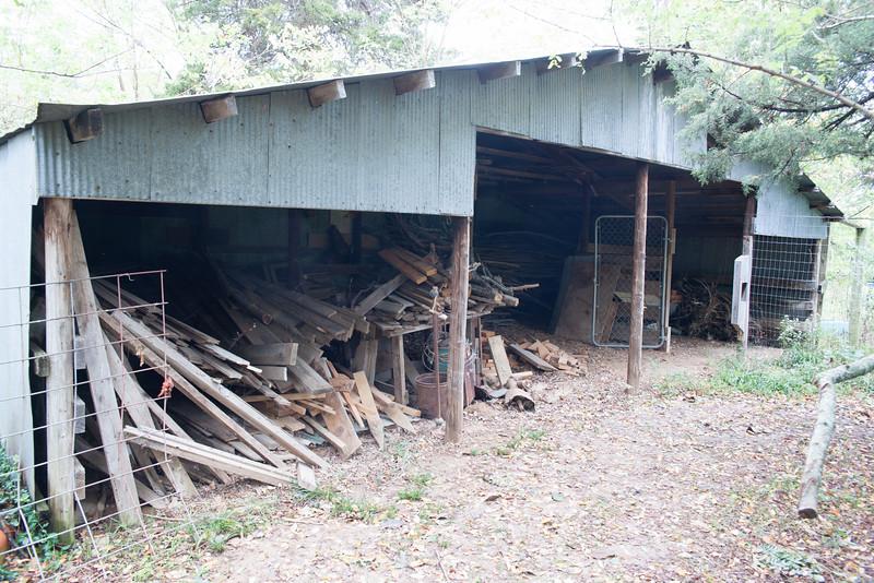 The barn leaks