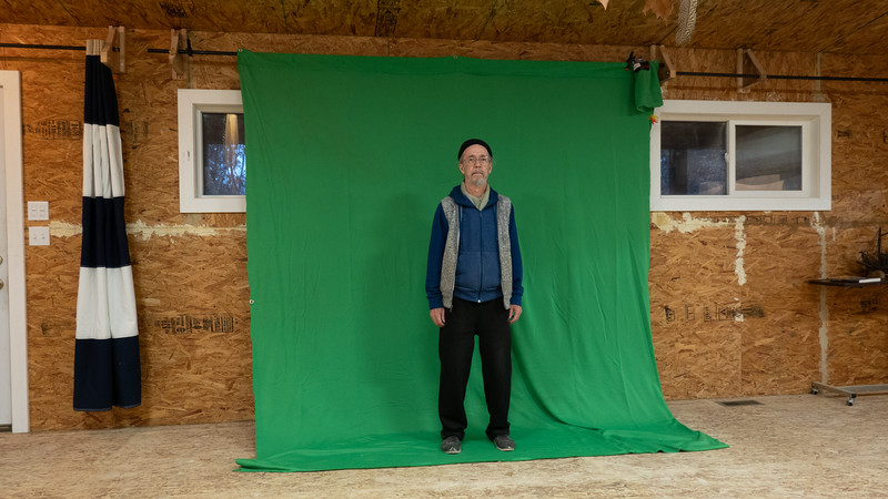 Green screen cloth only allows a tiny bit of room to work with.