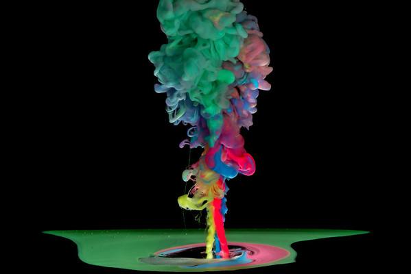 Coloured Lava Flow