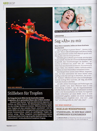 Picture of the Month in German GEO mag.