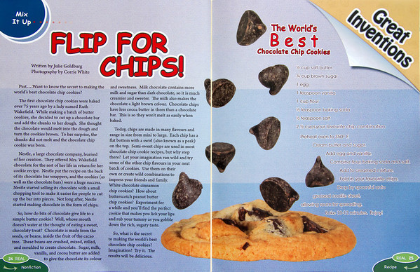 I made a cookie with flying chocolate chips for REAL mag.