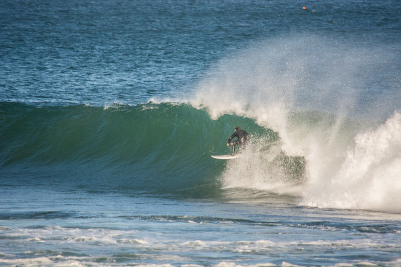 Fully taking advantage of an empty line up.<br /> <br /> Brett Medlin. Somewhere in Baja