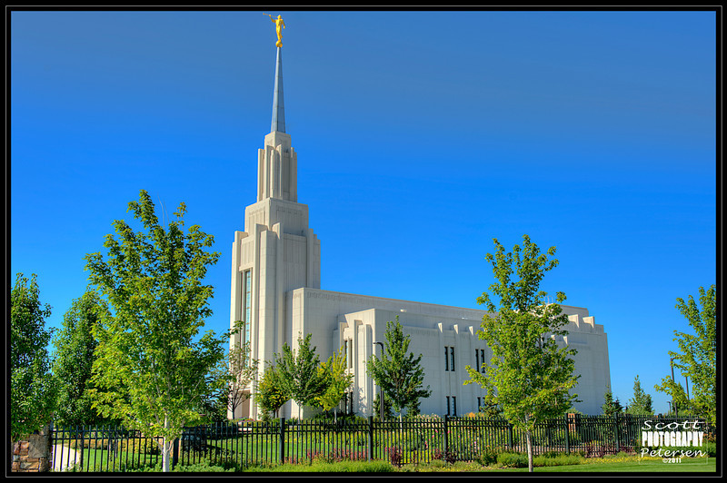 Twin Falls, Idaho Temple of The Church of Jesus Christ of Latter Day Saints.  August 2011.