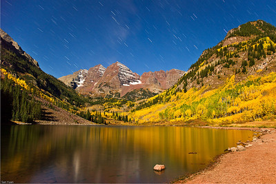 Maroon Bells at Midnight