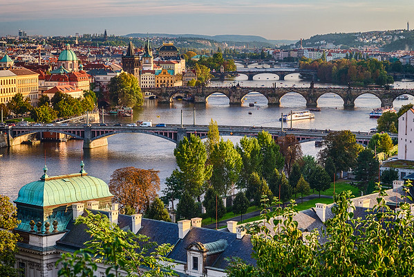 Vltava River through Prague