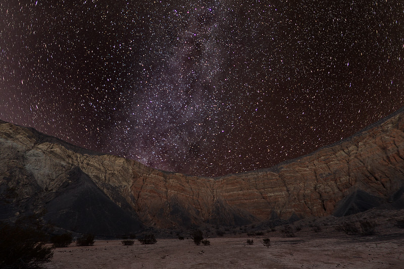 Looking up from Ubeheb Crater