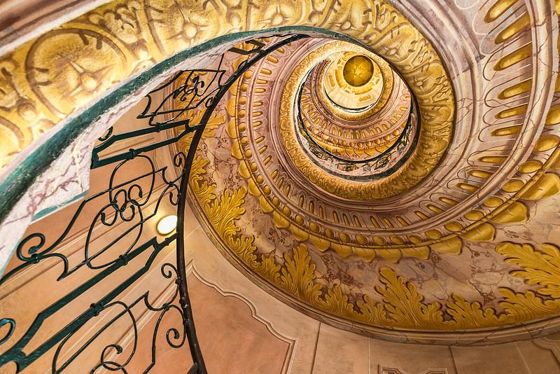 Stairwell in Melk Abby_Austria