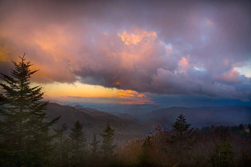 Sunrise over Waterrock Knob