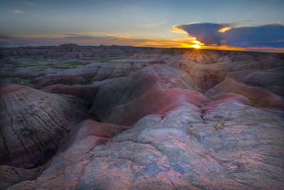 First Light Over Badlands