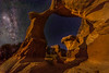 Moon lit Metate Arch