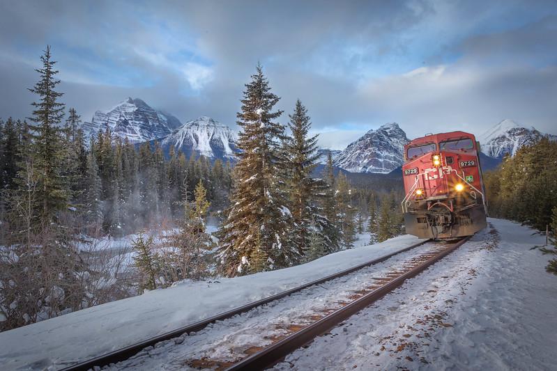 Rocky Mountaineer Train Reaching Banff