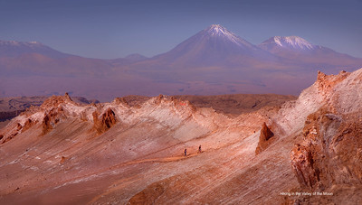 Hiking in the Valley of the Moon, Atacama, Chile