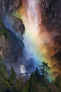 Rainbow over Bridalveil Fall, Yosemite