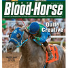 March 17, 2012 Issue 11 Cover of The Blood-Horse with Creative Cause wining the San Felipe.<br /> <br /> © The Blood-Horse