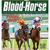 February 25, 2012 Issue 8 Cover of The Blood-Horse with Drill winning the San Vicente.<br /> <br /> © The Blood-Horse