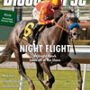 January 18, 2014 Issue 3 cover of The Blood-Horse featuring Midnight Hawk winning the Sham Stakes at Santa Anita Park.