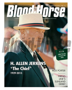 March 28, 2015 Issue 13 cover of the Blood-Horse featuring Allen Jerkens.