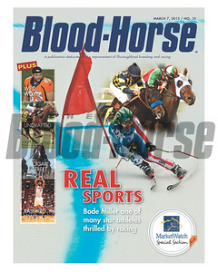March 7, 2015 Issue 10 cover of the Blood-Horse featuring Bode Miller, Wes Welker Cigar Street and Rashard Lewis.