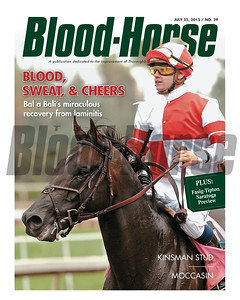July 25, 2015 Issue 29 cover of the Blood-Horse featuring Bal a Bali.