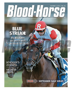 Ocotber 3, 2015 Issue 40 featuring Big Blue Kitten winning the Joe Hirsch Turf Classic Stakes (gr. IT) at Belmont Park on September 26, 2015.