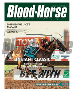 August 29, 2015 Issue 35 featuring Beholder winning the Pacific Classic Stakes at Del Mar.