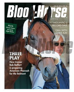 May 30, 2015 Issue cover of Blood-Horse featuring American Pharoah and Bob Baffert.