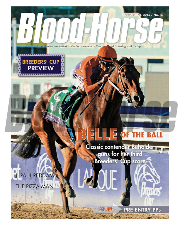 October 24, 2015 Issue 43 cover of the Blood-Horse featuring Beholder