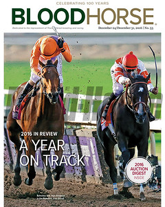 December 24/31, 2016 issue 53 cover of BloodHorse featuring 2016 in Review – A Year on Track, 2016 Auction Digest.