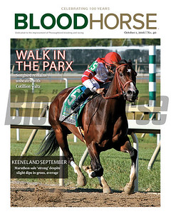 October 1, 2016 issue 40 cover of BloodHorse featuring Walk In The Parx as Songbird remains unbeaten with Cotillion waltz. Keeneland September marathon sale 'strong' despite slight dips in gross, average.